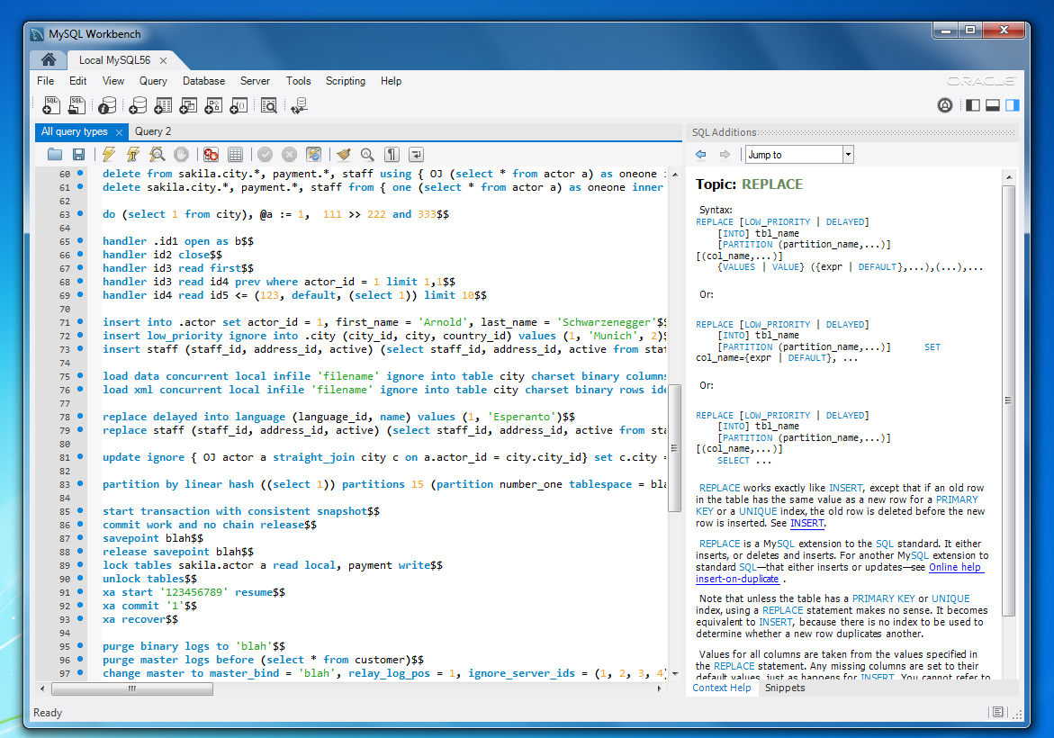 Mysql workbench 60 help is on the way the mysql workbench wb screenshot windows sql editor context help baditri Image collections