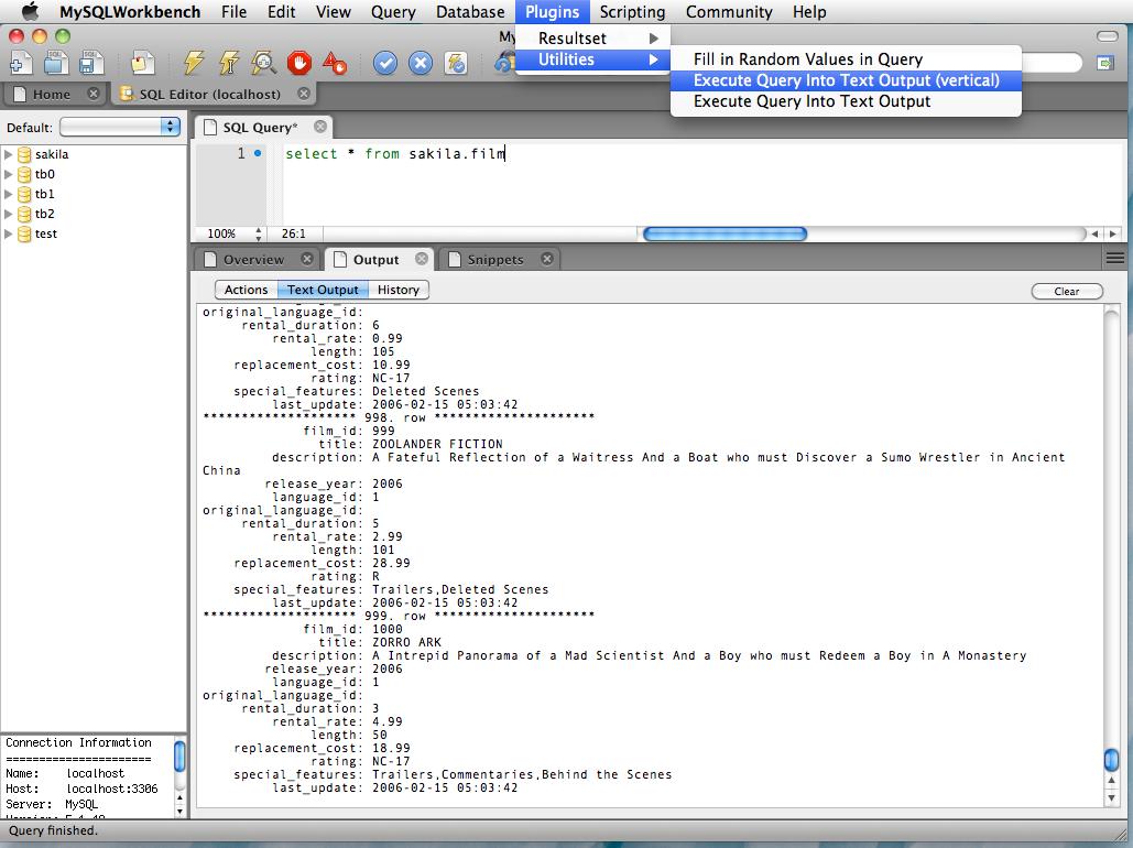 Plugins – The MySQL Workbench Developer Central Site