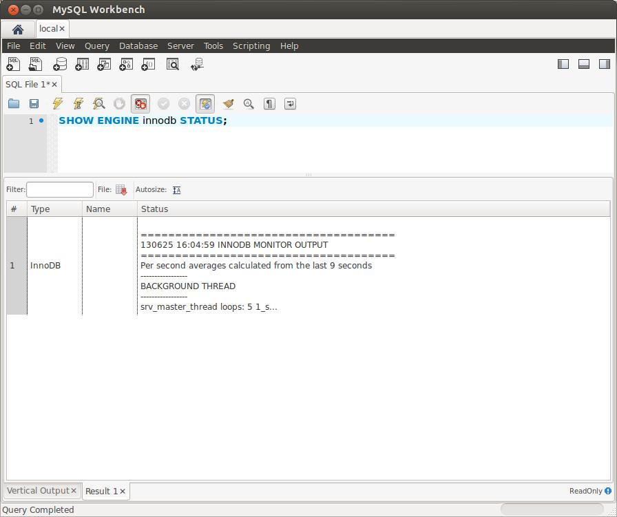 MySQL Workbench: Vertical Query Output – The MySQL Workbench