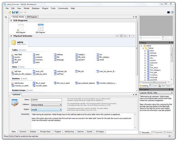 WB Screenshot Model Table Editor