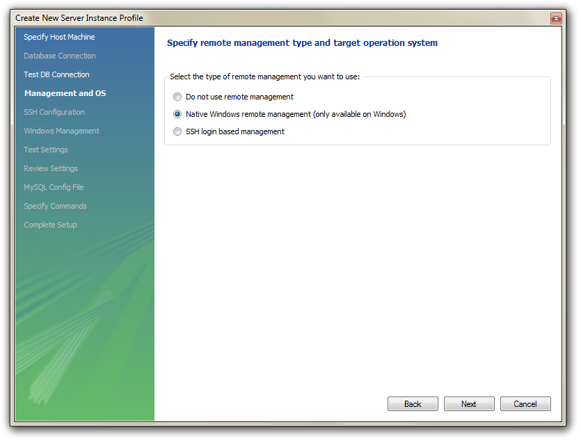 how to open mysql server in windows